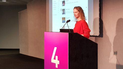Tatiana Kolesnikova presenting a talk