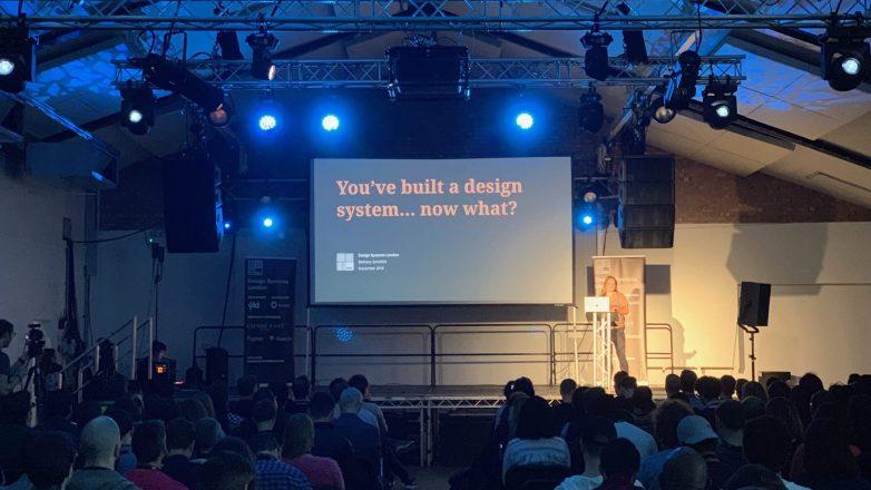 Bethany Sonefeld speaking at Design Systems London