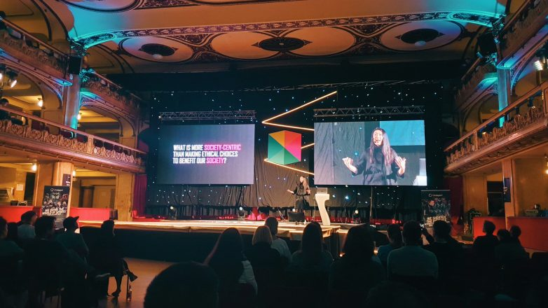 Kat Zhou speaking at Webexpo