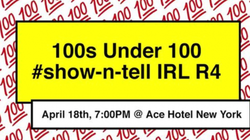 100s under 100 flyer for speaker series