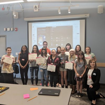 Anna with her TechGirlz class