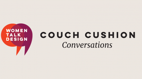 graphic: Couch cushion conversations and WTD logo