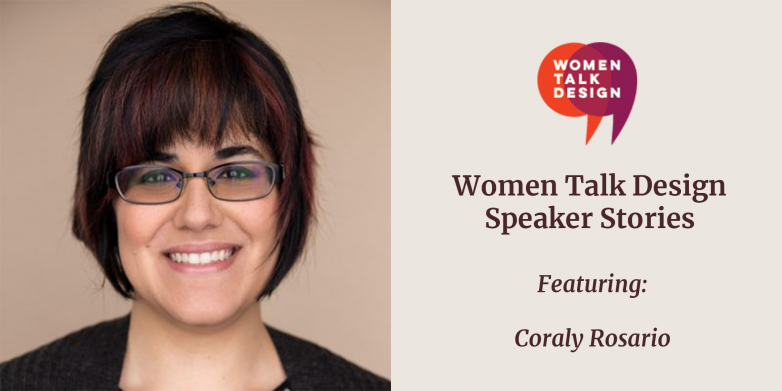 Speaker Stories Graphic with Coraly Roasio headshot