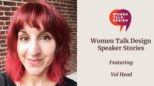 Speaker Stories, Val Head graphic