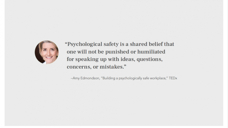 quote about what psychological safety is