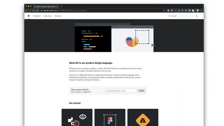 Screenshot of the Slack Kit design system