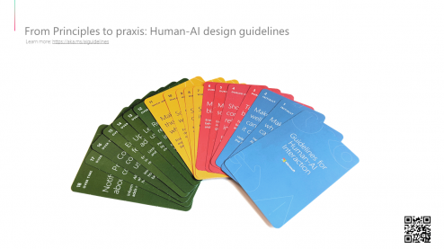 Human-AI design guidelines cards