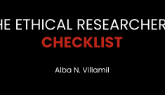 The Ethical Researcher's Checklist