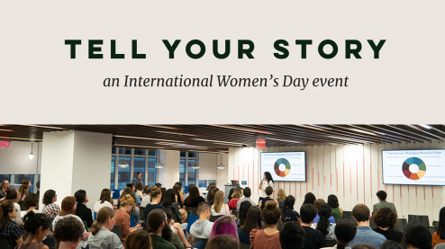 Tell your story: an international women's day event