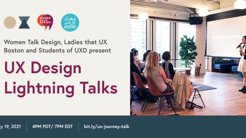 graphic for UX Design Lightning talks