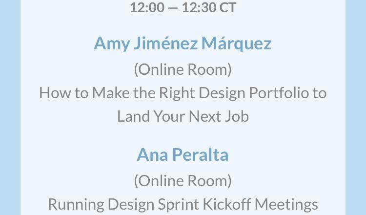 Iphone screenshot of event schedule