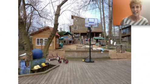 Preschool playground in Durham, North Carolina