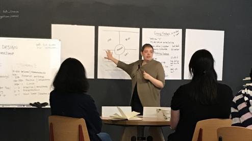 Alla teaching a workshop