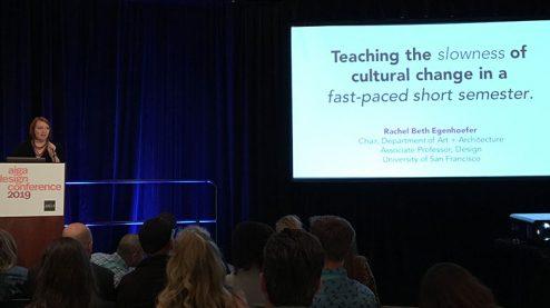 Rachel Beth Egenhoefer talk at AIGA 2019