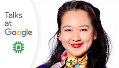 "headshot of yiying next to the words ""Talks at Google"""